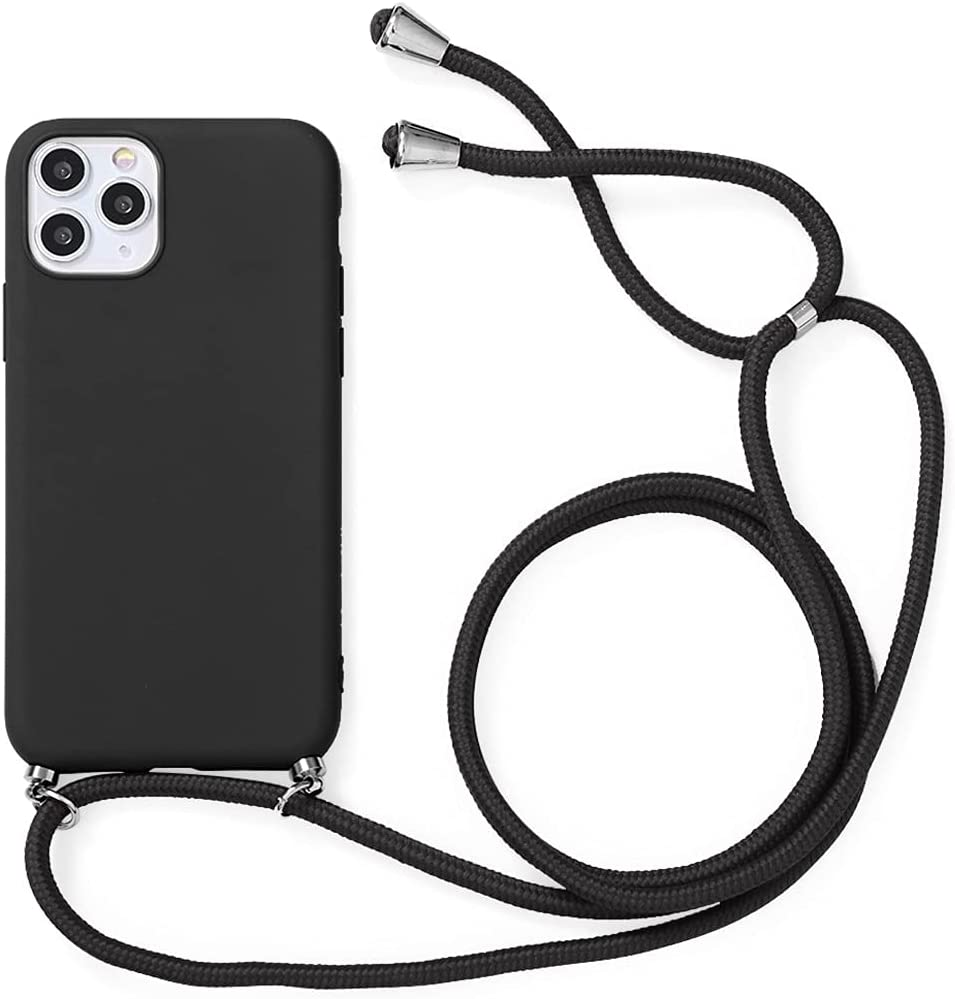 Yoedge Crossbody Case for Huawei Honor Play 20 (4G), Neck Cord Phone Case with Adjustable Lanyard Strap, Soft TPU Silicone Shock-Proof Cover Compatible with Honor Play 20 4G [6.52