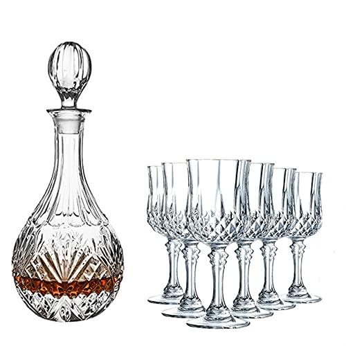 Licorera Casual 750ML Decantador De Vinos 7-PC Glass Carafe Whiskey Beer Rojo Wine Home Kitchen Restaurant Bar Hotel 12X32CM MUMUJIN (Size : 170ML)