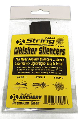 Rubber Whisker Bow String & Cable Silencers 4 Pcs.