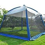 hdfj12142 330 * 330 * 245CM Garten Pavillon Zelt mit Moskitonetz Atmungsaktives Camping Zelt Deluxe Allwetter Wasserdichter Pavillon-Blau