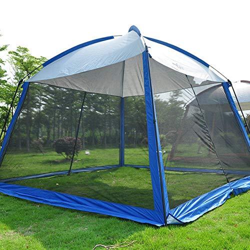 hdfj12142 Carpa Gazeb de jardín de 330 * 330 * 245 cm con mosquitera Carpa de Camping Transpirable Gazebo Impermeable para Todo Clima-Azul