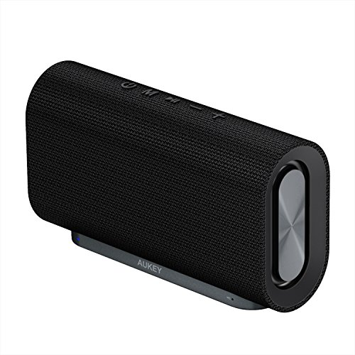 AUKEY Eclipse Bluetooth Lautsprecher 20W Verstärkender Bass mit 12 Stunden Spielzeit und Oberfläche aus Netzgewebe für Echo Dot, Android Phones usw. (Neue Version)
