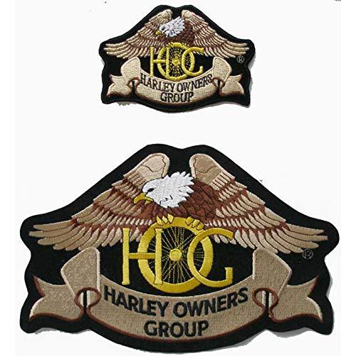 Generico Set 2 Toppe Patch Grande E Piccola Aquila Hog Modello Classico Harley Davidson