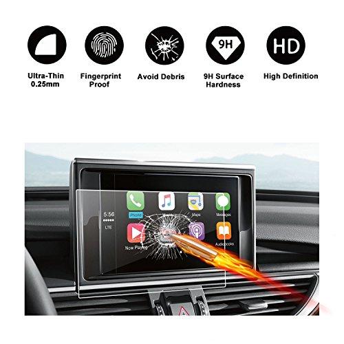 RUIYA Proteggi schermo in vetro temperato per (2011-2017) Audi A6 S6 A7 S7 RS7 A8 S8 D4 allroad quattro C7 MMI Sistema di navigazione,Pellicola protettiva HD[8 pollice]