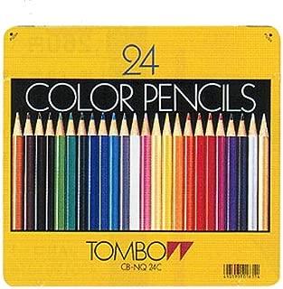 【ひらがな/カタカナ名入れ】トンボ鉛筆 缶入色鉛筆24色 NQ (CB-NQ24C)