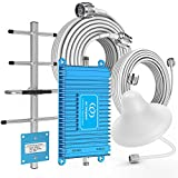 Home 4G LTE Cell Phone Signal Booster Verizon, AT&T, Straight Talk, U.S. Cellular 700MHz Band 12/13/17 FDD Mobile Phone Booster Repeater Amplifier up to 4500 Sq Ft, Improve 4G Data and 4G Calls
