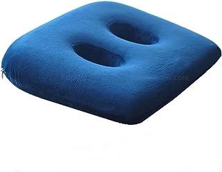 GPFDM 2PCS Memory Foam Sit Bone Relief Cushion for Butt, Lower Back, Hamstrings, Hips, Ischial Tuberosity,A
