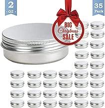 35 Set 2 Oz Tins Aluminum Tins Cans Screw Top Round Steel tins Cans with Screw Lid Screw Lid Containers