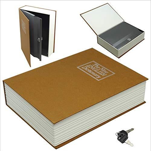 Platinum Place Hidden Book Safe met Lock-Woordenboek, Geheim, Geld, Doos, Beveiliging, Plank, Opslag, Sleutels, Paspoort, Papieren, Verzekering