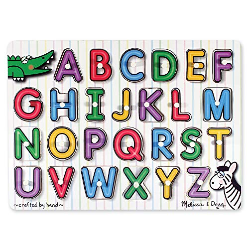 Melissa & Doug See-Inside Alphabet Peg,Multi Color