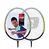 no!no! Raquette de Badminton Ensemble Complet de Cadre en Aluminium translucide