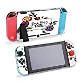 SUPNON Carry Case Compatible with Nintendo Switch, Ultra Slim Hard Shell, Protective Carrying Case for Travel - Wildflower Rose Flower Frame in A Watercolor Design33390