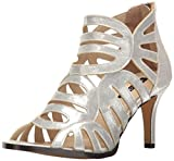 Michael Antonio Women's Lush-met Dress Sandal, Silver, 9 US/US Size Conversion M US