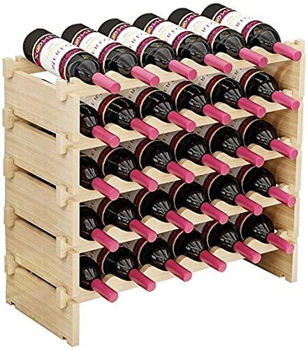 Gabinete tenedor del vino Titular de vino Soporte de almacenamiento Pantalla de vino Rack Creative Apilable Vino Gabinete de vino de madera Estantes de almacenamiento de vino con mesa Organizador