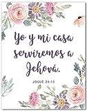 Josué 24:15 En Espanol Wall Decor - Joshua 24:15 Cuadro - Mensajes Cristianos Para Pared en Español - Christian Wall Decor In Spanish - 8x10 - Unframed