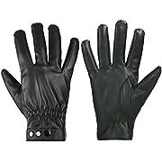 GLOUE Men's Gloves Waterproof Touchscreen Thick Gloves Keep Warm in Winter Outdoor Black