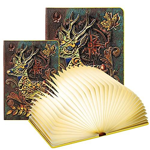 Lampada Libro Led Pieghevole in 3 Colori – DEVASO | Lampada Libro Decorazioni Casa, Camera e Ufficio | Idea Regalo Originale per Compleanno e Natale, Donna e Uomo (12*9*2.3cm)