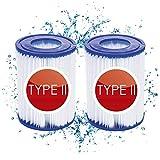 filtro para bestway tipo ii,para bomba de filtro para Bestway #58094,Cartuchos de filtro de repuesto,filtro piscina para bestway tipo 2,filtro piscina para bestway #58386,filtro agua tipo ii (2pcs)