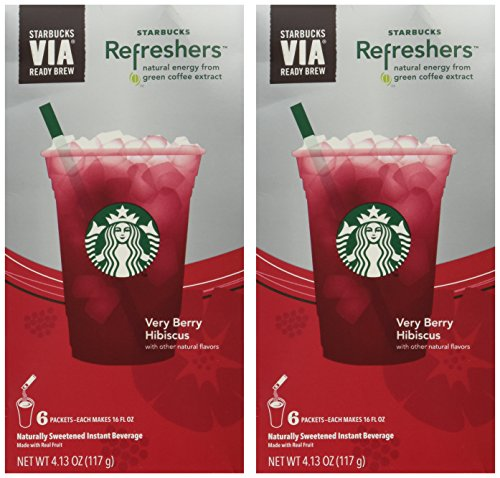 Starbucks VIA Instant Refreshers, Very Berry Hibiscus, 6 CT