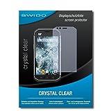 SWIDO Bildschirmschutz für Caterpillar Cat S40 [4 Stück] Kristall-Klar, Hoher Festigkeitgrad, Schutz vor Kratzer, Schutzfolie, Bildschirmschutzfolie, Panzerglas Folie