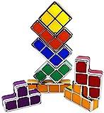 YUIOLIL Luz de Noche para la Sala de Estar de la mesita de Noche, Lámpara de Tetris Apilable Led Lámpara de Ambiente Retro Tangram Rompecabezas Bloques de construcción