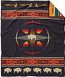 Pendleton Unisex Jacquard Blanket Robe Oxford/Big Medicine, Twin