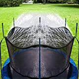 Bobor Trampoline Sprinkler for Kids, Outdoor Trampoline Backyard Water Park Sprinkler Fun Summer Outdoor Water Toys for Boys Girls (39ft)