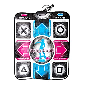 Tookie USB Dance Pad Dancing Mat Non-Slip Dancing Step Dance Mat Pad Blanket for PC Laptop Video Game Compatible with Windows 98/2000/XP/7/8