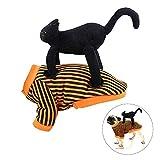Lifreer - Disfraz de Halloween para mascotas, disfraz de perro o cosplay, color negro, vertical para perros y gatos, para Halloween, Navidad, fiesta de disfraces (M