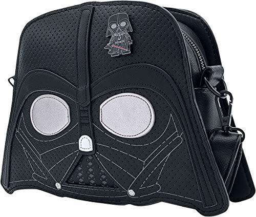 Star Wars Loungefly: Pop  by   Darth Vader Unisex Mochila Bandolera Negro  Semi Piel