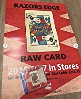 razors edge raw CARD 特典ポスター