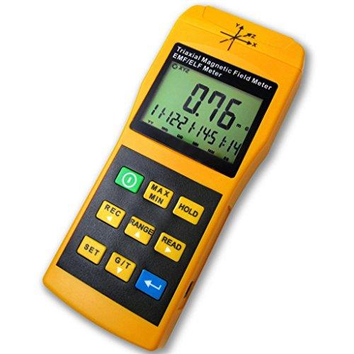 3-Axis Gauss EMF ELF Meter Detector, Electromagnetic Field Radiation Intensity 20/200/ 2000 mG & uT, Frequency 30~2000 Hz, Handheld Portable Gauge for Microwave Computer Monitor Power Line