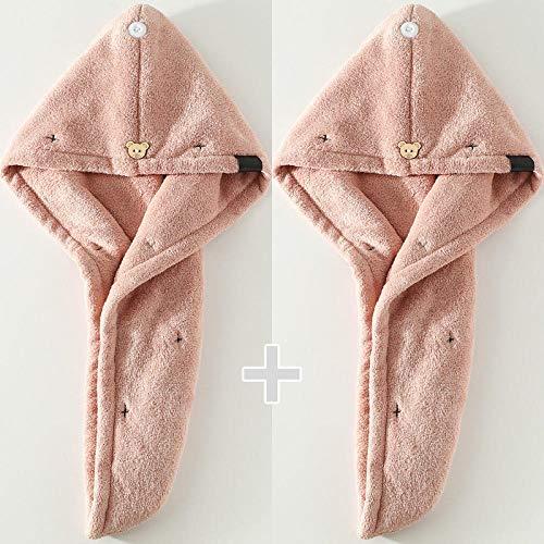 Super absorberend, nat haar, sneldrogende haardop, vrouw, dubbellaags dikke handdoek H