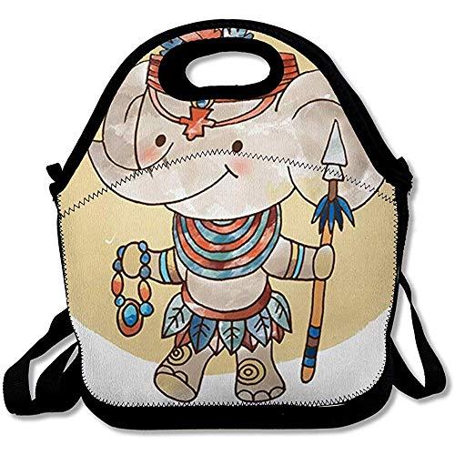 Kostuum, olifantenkostuum, Afrikaanse cultuur, antiek, etno, grappig design, herbruikbaar, geïsoleerd