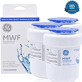 GE Water Filters for Refrigerators, GE MWF Smart Refrigerator Genuine Water Filter Cartridge, Replacement for GE SmartWater MWFP, MWFA, GWF, HDX FMG-1, WFC1201, GSE25GSHECSS (white, 3)