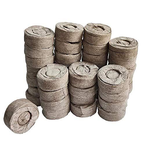 Odoukey Torf Pellets, Boden Jiffy Samen Starter Torf-Block 30mm Vermeiden Wurzel Schock für den Innenbereich Garten Succulents Planter 50pcs
