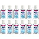 Purell Advanced Hand Sanitizer Refreshing Gel, 1 Fl Oz (12-Pack)