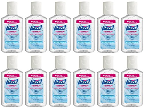 Purell Advanced Hand Sanitizer Refreshing Gel, 1 Fl Oz (12-Pack)