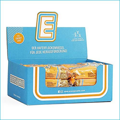 Energy Cake – Marille 24x 125g (3kg) - Fitness Riegel aus Haferflocken mit langkettigen Kohlenhydraten – Energie & Ausdauer Riegel für den Alltag mit weniger Zucker & unglaublichem Geschmack