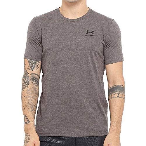 Camiseta Under Armour Sportstyle Left Chest SS Masculina - Chumbo - M