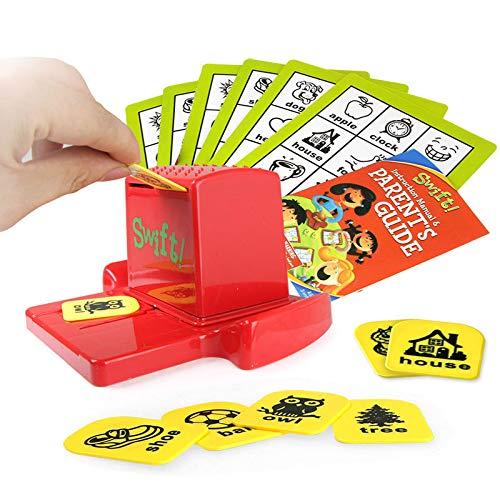 Bingo juego de la familia de la sociedad, juguetes rompecabezas Eudcational palabras, los juegos interactivos partido de la familia de juguetes, entre padres e hijos juegos interactivos para los ni.
