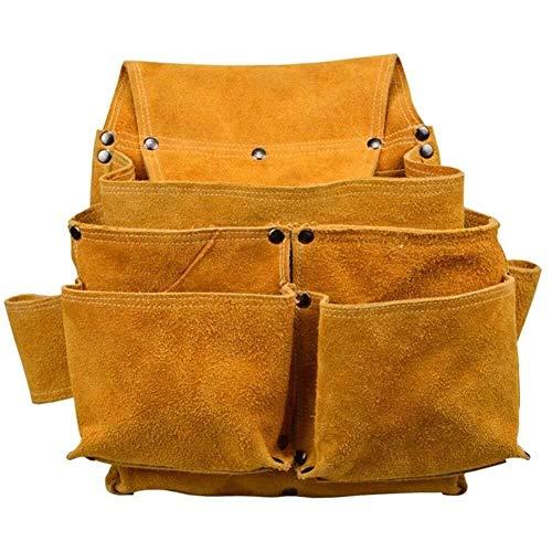 ZUQIEE Herramienta de soldadura Ropa de soldadura herramienta de bolsillo de la bolsa de la correa de bolsillo pequeño bolsa de herramientas con cinturón de nylon ajustable for trabajo pesado profesio