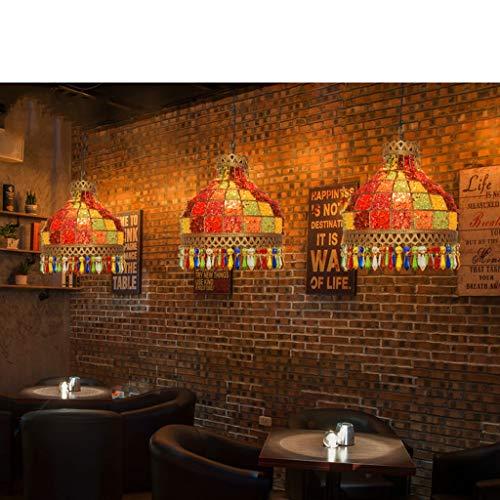Lustre- Lustre en cristal de restaurant de couleur, lampes simples simples de décoration de magasin de vêtements de thé de lait créatives AA+ (Taille : 25 * 30cm)