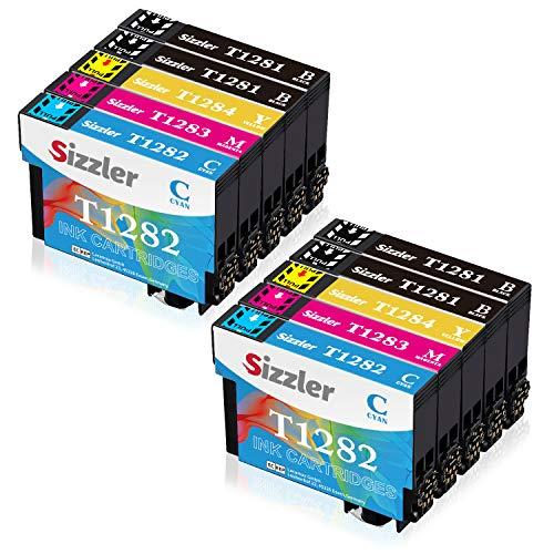 Sizzler T1285 XL Reemplazo para Epson T1281 T1282 T1283 T1284 XL Cartuchos de Tinta Compatibles con Epson Stylus S22 SX125 SX130 SX230 SX235W SX420W SX425W SX430W SX440W SX445W Office BX305F BX305FW