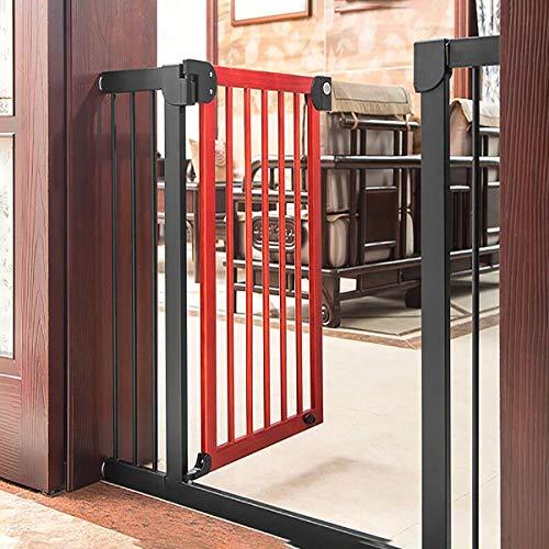 MARXIAO Massivholz-Haustier-Sicherheits-Tür, Holztreppengeländer Zaun Baby-Isolation Zaun Hund Zaun Tür, Prevent Random Walk,B