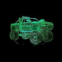 3DイリュージョンランプLEDナイトライトUVカラフルタッチリモコンリモートタッチウィッチ7色の変更