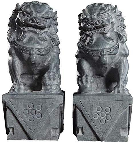 Attrezzatura vivente Decorazione domestica Artigianato Ornamenti cinesi cinesi Prosperità Casa di città Decorazione spirito malvagio Una coppia Statue di leoni di Pechino Scultura per casa e uffici
