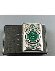 Zippo Encendedor, Cromado, Satin Finish (Celtic Green Cross), 5.8 x 3.8 x 1.8 cm