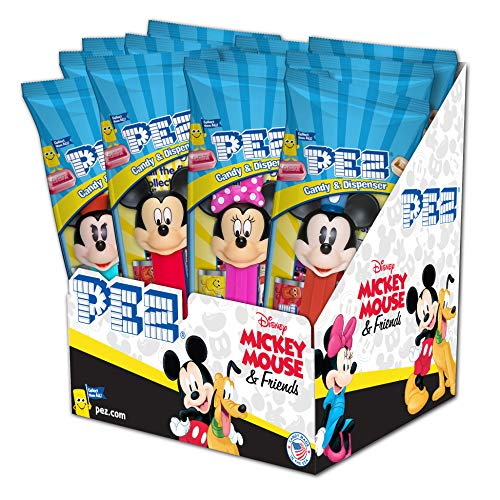PEZ Disney Mickey, 0.58-Ounce Assorted Candy Dispensers (Pack of 12)