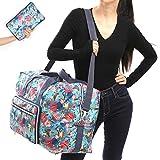 "22"" Foldable Large Travel Duffel Duffle Bag Overnight Carryon Weekend Bag Shoulder Bag Water Rresistant 8 Color Choices (mermaid)"